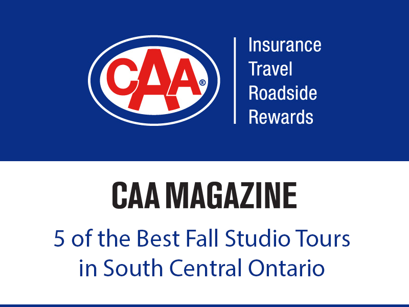 Art in Action is one of CAA Magazine's Top 5 Fall Tours in South Central Ontario